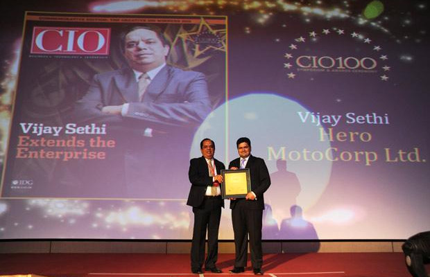 The Creative 100: Vijay Sethi, VP & CIO of Hero MotoCorp receives the CIO100 Award for 2011