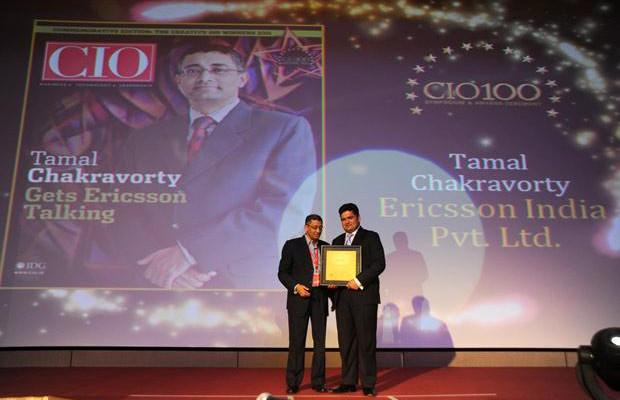 The Creative 100: Tamal Chakravorty, Director-IT, Ericsson India receives the CIO100 Award for 2011.