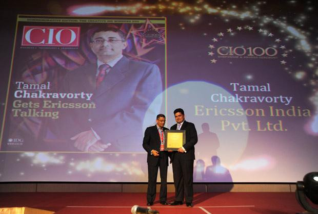 The Creative 100: Tamal Chakravorty, Director-IT, Ericsson India receives the CIO100 Award for 2011.
