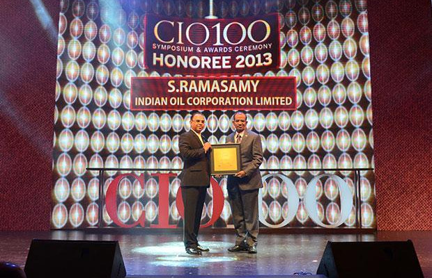 The Astute 100: S Ramasamy, Executive Director-IS at Indian Oil Corporation (IOCL) receives the CIO100 Award for 2013