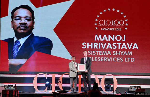 The Versatile 100: Manoj Shrivastava, Director-IT of Sistema Shyam Teleservices receives the CIO100 Award for 2015