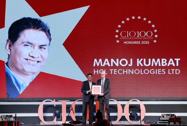 The Versatile 100: Manoj Kumbhat, Sr. VP & Global CIO, HCL Technologies receives the CIO100 Award for 2015