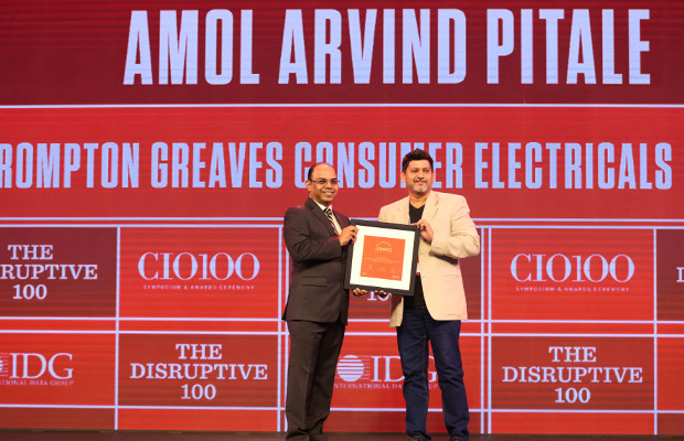 The Disruptive 100: Amol Arvind Pitale, CIO, Crompton Greaves Consumer Electricals receives the CIO100 Award for 2019