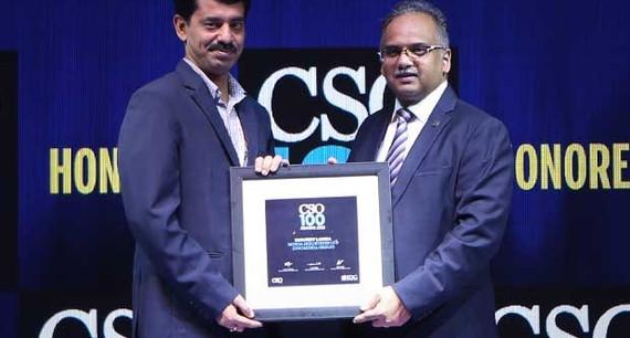 Sanjeev Lamba, Head IT GRC & PMO of UNO Minda Group, receives the CSO100 Award for 2019