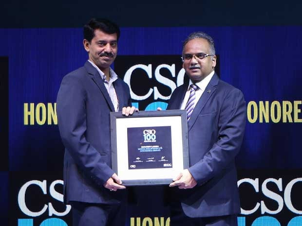 Sanjeev Lamba, Head IT GRC & PMO of UNO Minda Group, receives the CSO100 Award for 2019