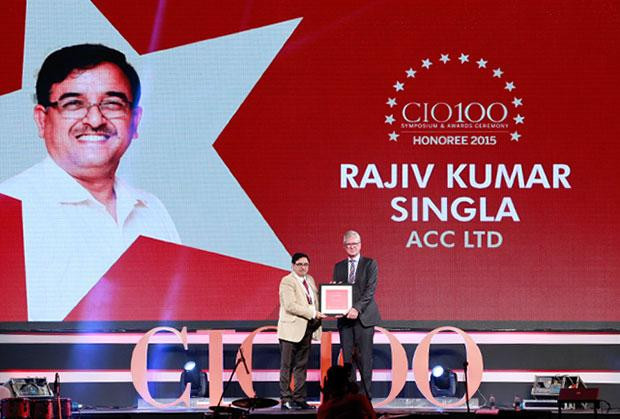 The Versatile 100: Rajiv Kumar Singla, Head-IT of ACC receives the CIO100 Award for 2015