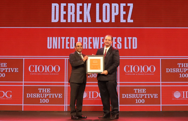 The Disruptive 100: Derek Lopez, GM-IT, United Breweries Limited (UBL) receives the CIO100 Award for 2019