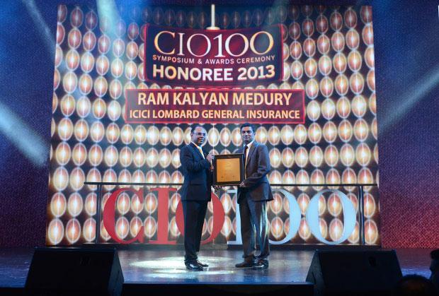 The Astute 100: Ram Kalyan Medury, CIO of ICICI Lombard General Insurance receives the CIO100 Award for 2013
