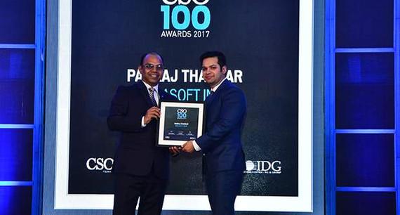 Pankaj Thakkar, Head of Information Security Compliance of Birlasoft, receives the CSO100 Award for 2017