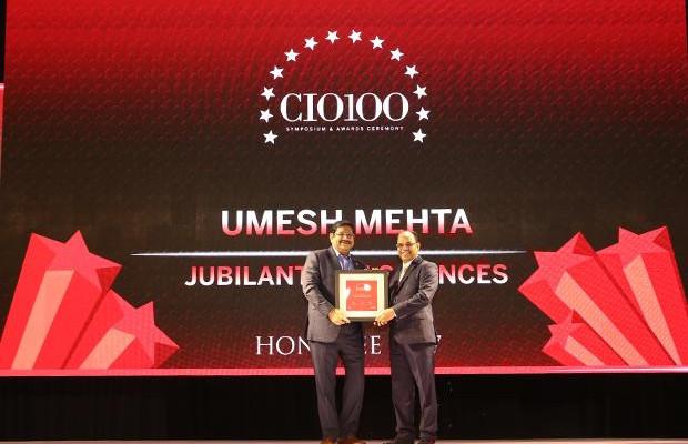 The Digital Innovators: Umesh Mehta, CIO-India of Jubilant Life Sciences receives the CIO100 Award for 2017