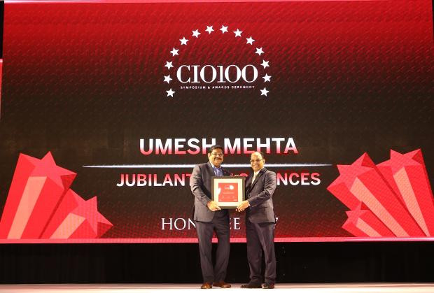 The Digital Innovators: Umesh Mehta, CIO-India of Jubilant Life Sciences receives the CIO100 Award for 2017