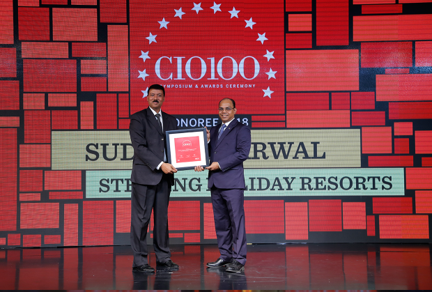The Digital Architect: Sudesh Agarwal, CIO, Sterling Holiday Resorts, receives the CIO100 award for 2018