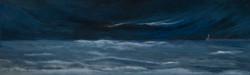 """""""El mar pot ser negre"""" 30x100  oli tela 2"""