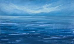 """""""Un mar cobalt"""" 30x 50 oli-fusta 2020"""