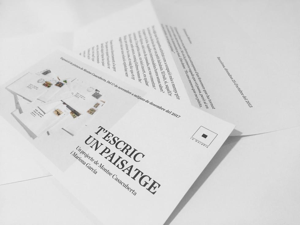 """Inauguració de l'exposició """"T'ESCRIC UN PAISATGE"""" Un projecte de Montse Casacuberta i"""