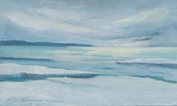 """""""Al pol el mar és blanc"""" 30x50 oli-fusta"""