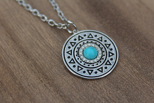 Circle Aztec Pendent Necklace