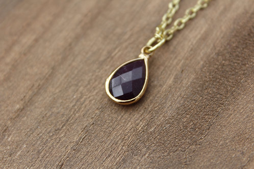 Dark Plum Stone Necklace