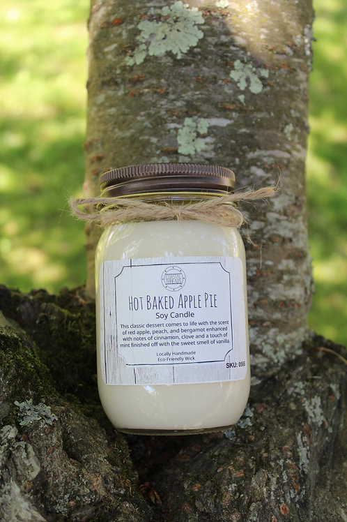 Hot Baked Apple Pie Soy Candle