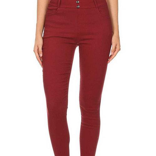 Burgundy Twilled Pants