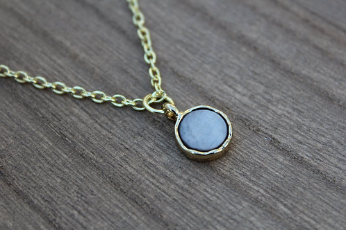 Cement Circle Stone Necklace