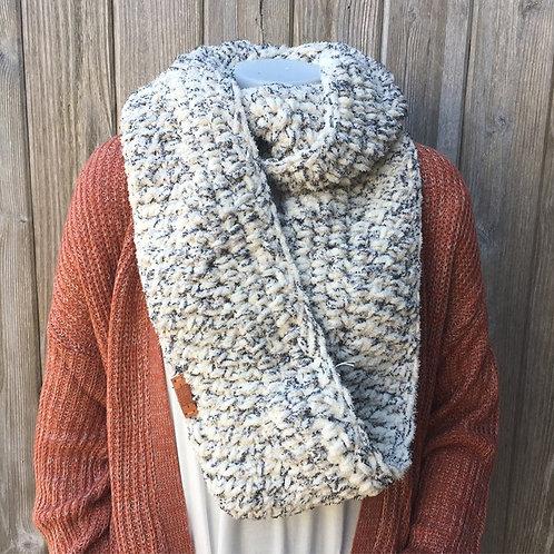 Ivory Tweed Handmade Infinity Scarf