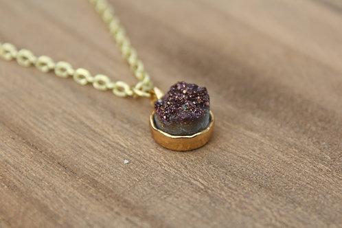 Brown Druzy Necklace