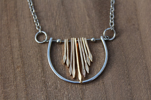 Cresent Waterfall Necklace