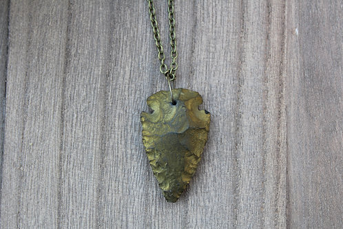 Bronze Arrowhead Necklace
