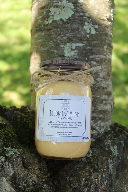 Blooming Mums Soy Candle