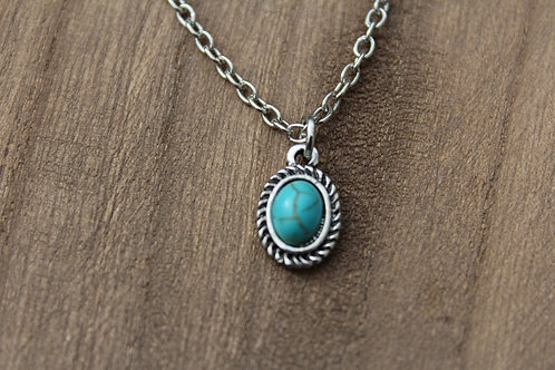 Mini Oval Turquoise Necklace
