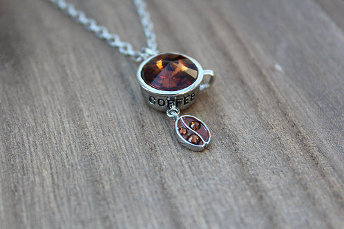Coffee Bean Swarovski Necklace