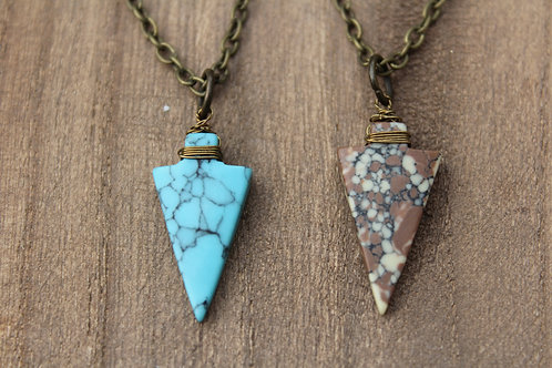Marbled Arrowhead Necklace