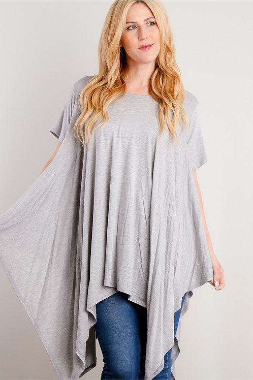 H. Grey Drape Tunic