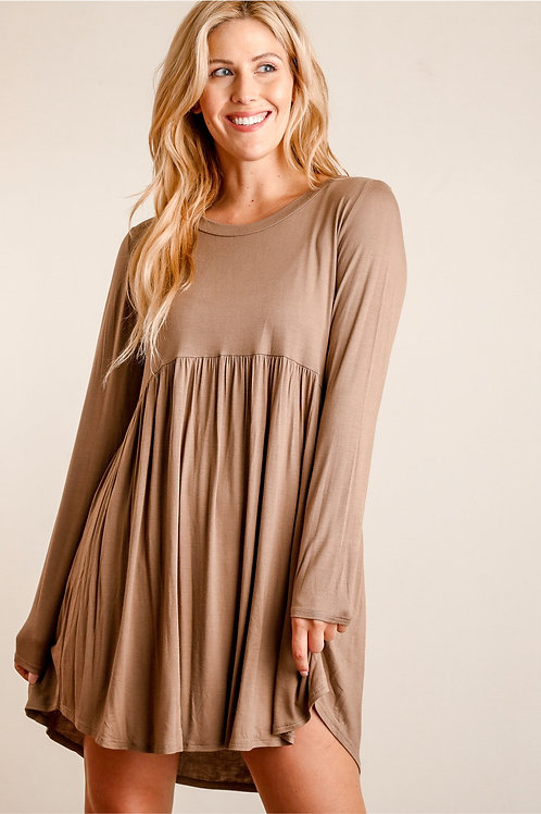Brown Babydoll Dress
