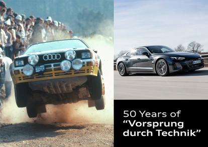 """Audi'nin """"Vorsprung durch Technik"""" Sloganı 50. Yılını Kutluyor"""