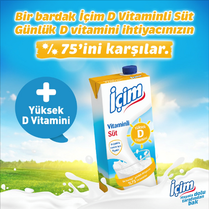 İçim'den Yeni Ürün: İçim D Vitaminli Süt