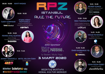 RPZ İstanbul 3 Mart Salı günü Beşiktaş Mustafa Kemal Kültür Merkezi'nde