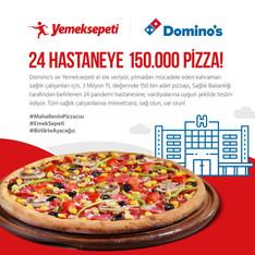 Yemeksepeti ve Domino's Sağlık Çalışanlarına 3 Milyon TL Değerinde Pizza Gönderimi Yapacak