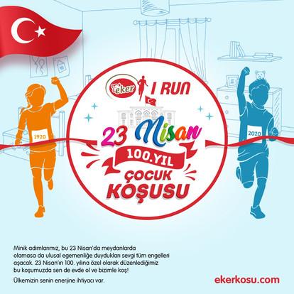 23 Nisan 100. Yıl Çocuk Koşusu'na Çocuklar Evlerinden Katılabilecek