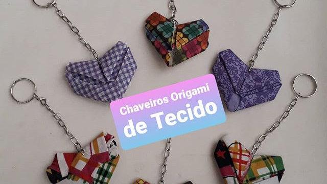 Chaveirinho Coração Origami