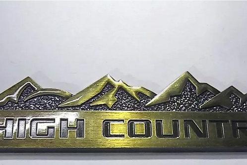 Logo Emblema Tunning High Country Silverado Chevrolet