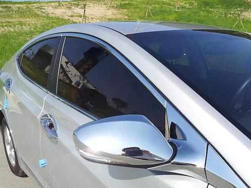 Cubre Espejos Cromados Hyundai Accent Rb Sin Led 2011-2018