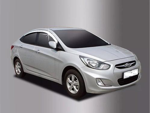 Aletas Bota Aguas Cromadas Hyundai Accent Rb Korea 2011-2018