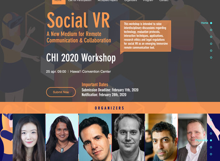 CHI2020 Social VR Workshop