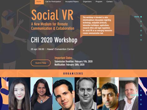 CHI2020 Social VR Workshop