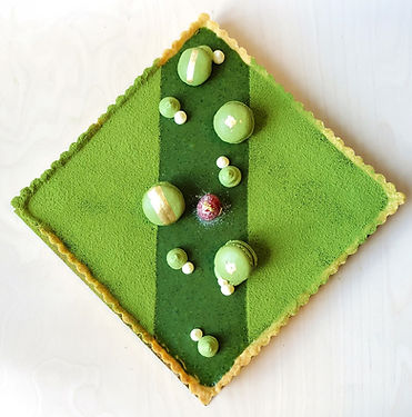 Matcha nama chocolate pie