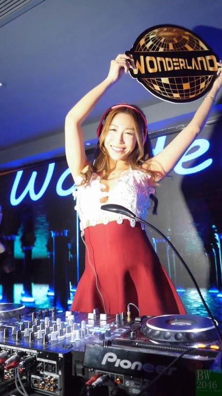 姚紫茵 as DJ Spicy Bonnie @ Wonderland Club HK - Grand Opening