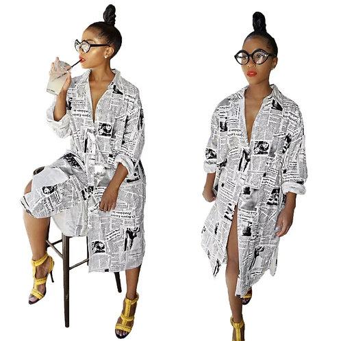 Stylish Newspaper Dress