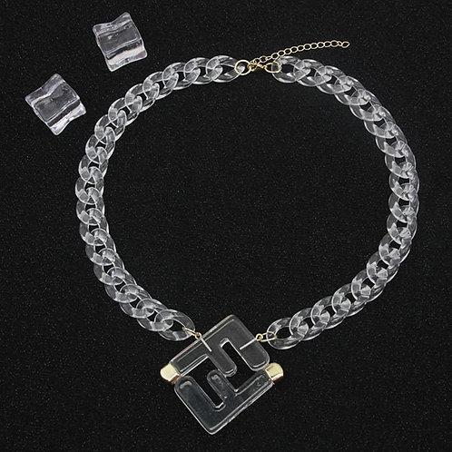 FF Letter Necklace